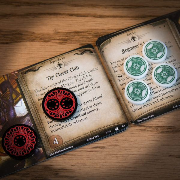 Clue and Doom - Act & Agenda - Mythos Tokens