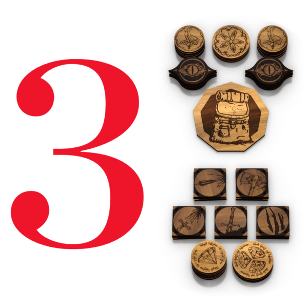 Three Player Bundle   Adventure Tokens