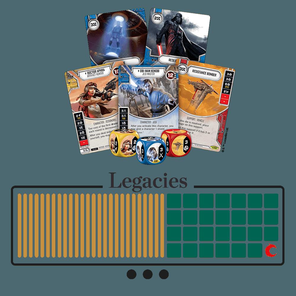 Legacies Saga Set - Every Card, No Hassle   Star Wars: Destiny
