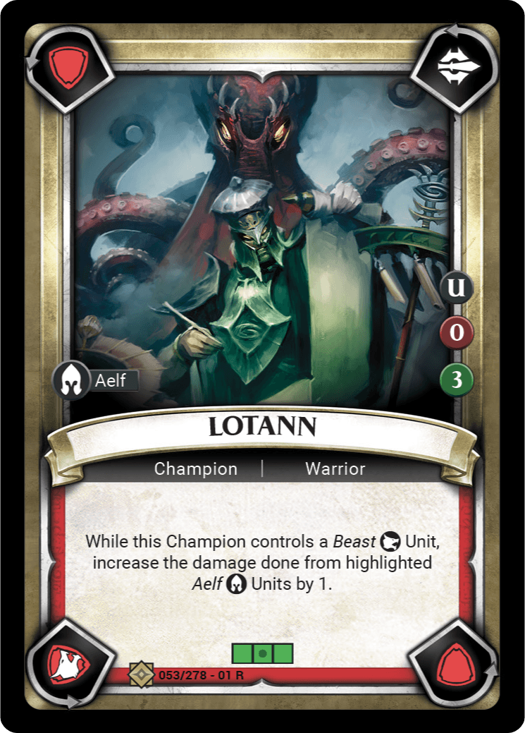 Lotann Single Card - Warhammer Champions | Covenant