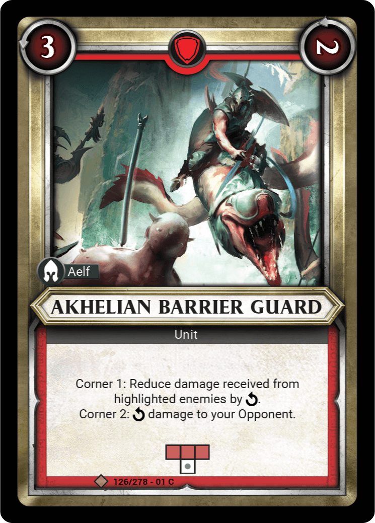 Akhelian Barrier Guard Single Card - Warhammer Champions | Covenant