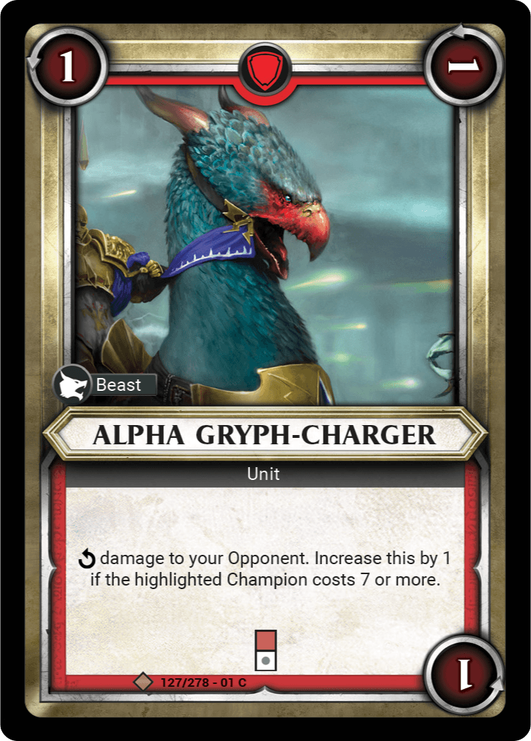 Alpha Gryph-Charger Single Card - Warhammer Champions | Covenant