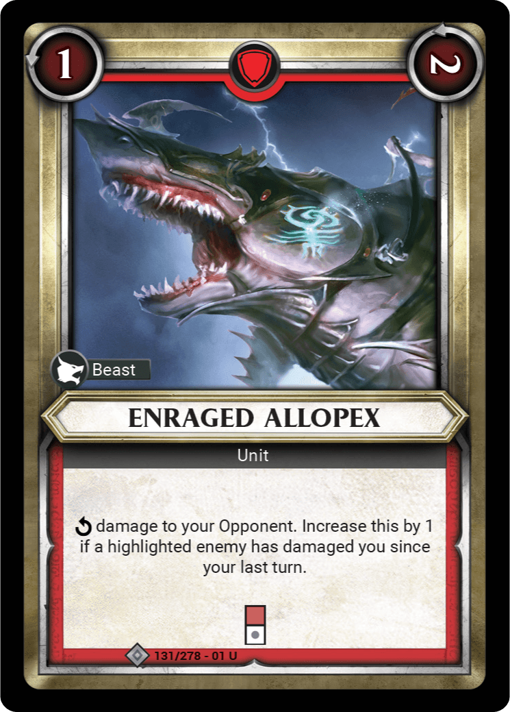 Enraged Allopex Single Card - Warhammer Champions | Covenant