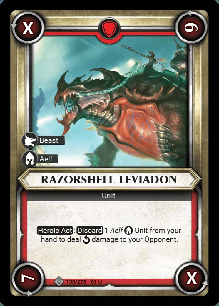 Razorshell Leviadon Single Card - Warhammer Champions | Covenant