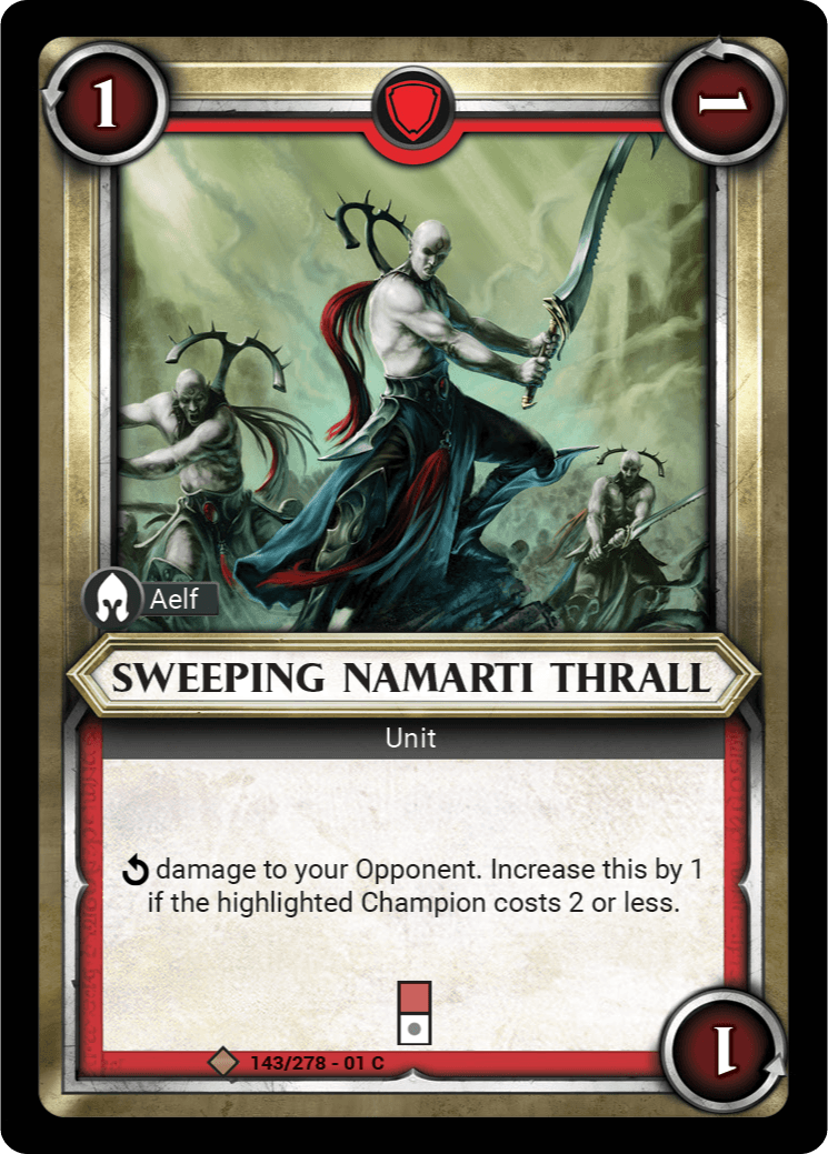 Sweeping Namarti Thrall Single Card - Warhammer Champions | Covenant