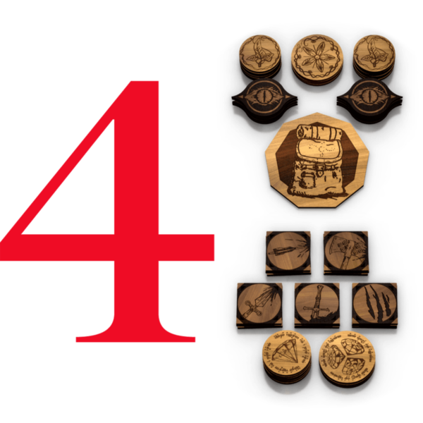 Adventure Token Four-Player Bundle | The Lord Of The Rings LCG