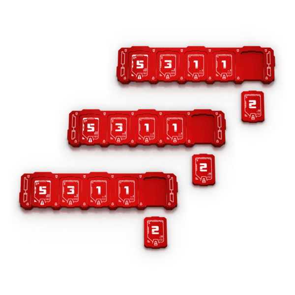3x Red Health Bar Bundle