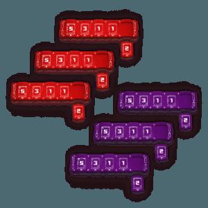 6x Combined Health Bar Bundle