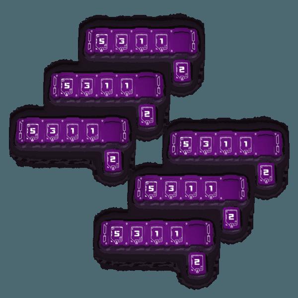 6x Purple Health Bar Bundle