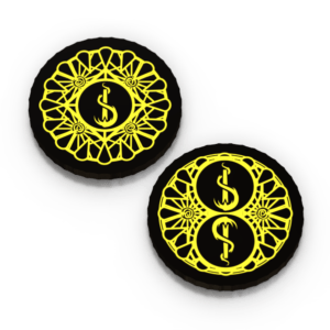 Carcosa Cycle Doom Tokens render with transparent background