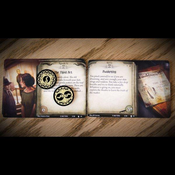 Carcosa Doom Token on act and scenario cards