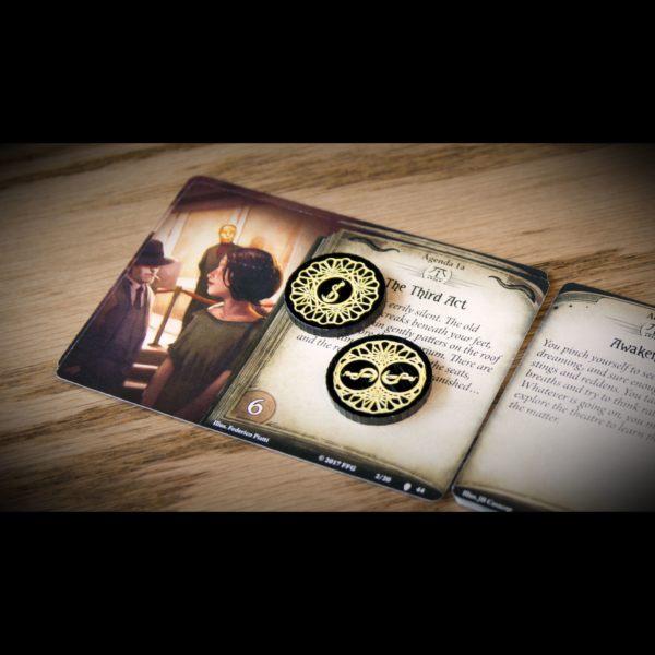 Carcosa Doom Token on scenario card