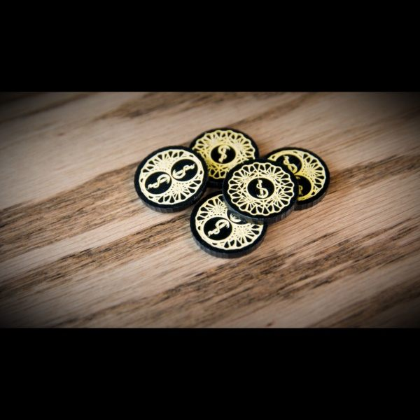 Carcosa Doom Tokens on table in a pile