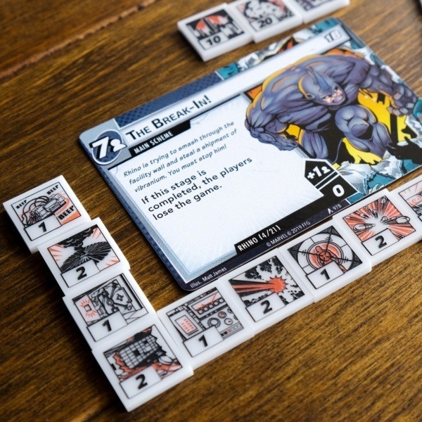 Threat Tokens with Rhino - Compatible with Marvel Champions LCG