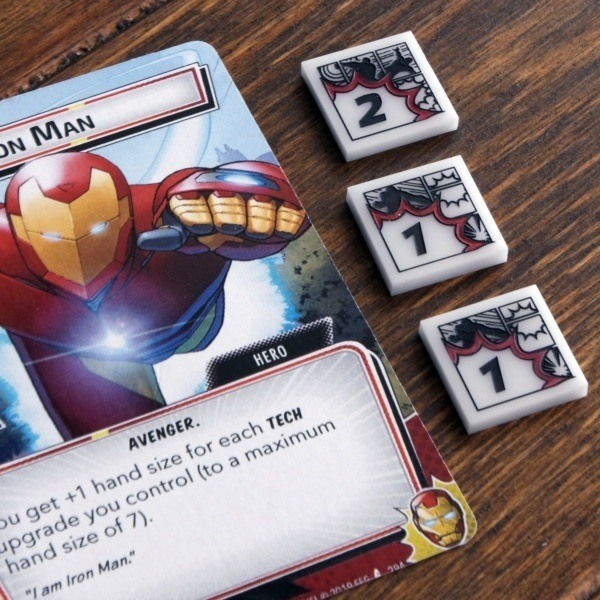 Damage Tokens from Cosmic Token Line with Iron Man - Compatible with Marvel Champions LCG