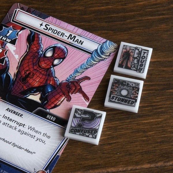 Status Tokens from Cosmic Token Line with Spider-Man - Compatible with Marvel Champions LCG