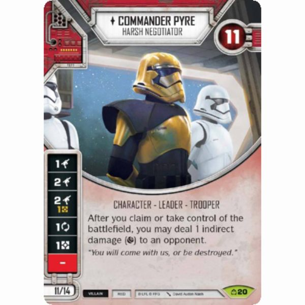 Harsh Negotiator 20 Rare Star Wars Destiny Covert Missions M x1 Commander Pyre