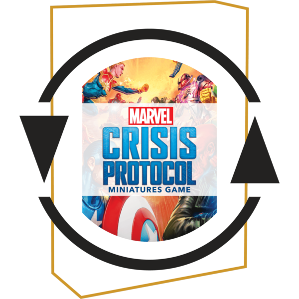 Subscription logo around Marvel Crisis Protocol Rival Panels product image.